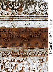 ancient borders - ancient Roman decorated borders in marble...