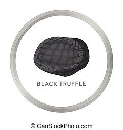 Black truffles icon in monochrome style isolated on white...