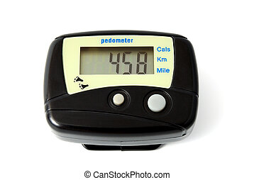 Digital Pedometer isolated on a white background
