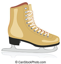 isolated ice skates