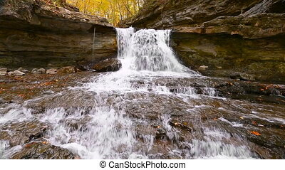 McCormicks Creek Waterfall Loop - In an autumn landscape...