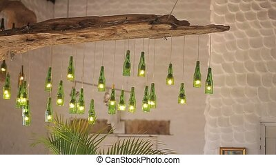 Interior lamps from bottles - Lamps in interior from bottles