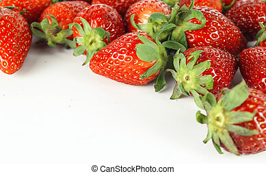 fresh ripe red strawberry with leaf, healthy fruit