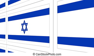 Postcards with Israel national flag - Sheet of postcards...