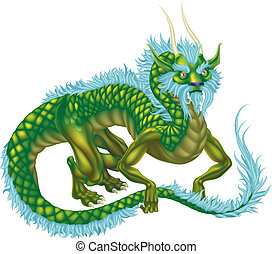 Dragon - An illustration of an oriental style dragon
