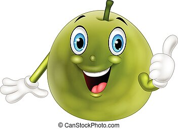 Cartoon guava giving thumb up - Vector illustration of...