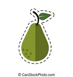 cartoon avocado health diet icon