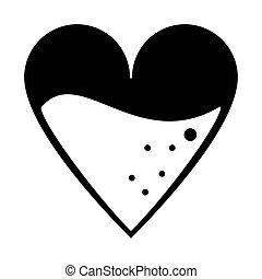 medical heart blood design pictogram