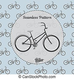 Bike pattern. Simple illustration of bicycle vector for web...