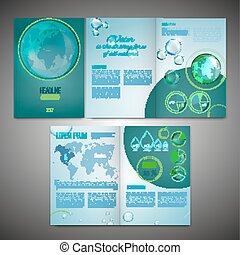 Brochure Template Image - Vector ecological brochure...