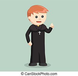 priest color illustration design
