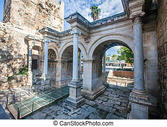 Hadrian's Gate in old city of Antalya