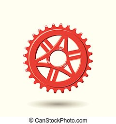 bike gear icon - Bike gear isolated on white background,...