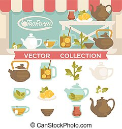 Tearoom Drinks Vector Collection on Showcase. - Tearoom...