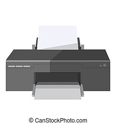 Copy and print or fax machine office vector icon - Printer...