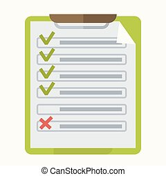 Check list marks on notepad vector icon