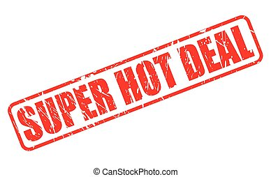SUPER HOT DEAL red stamp text