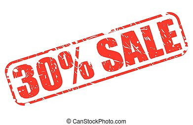 30 PERCENT SALE red stamp text