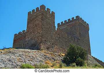 The ancient Genoese fortress - Ancient Genoese fortress...