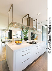 Modern kitchen with white cabinet - Modern, light and...