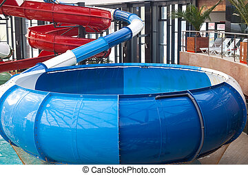 Spiral water slide - Picture of a spiral water slide in...