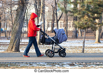 Mother & Baby walking - Picture of a mother walking her baby...