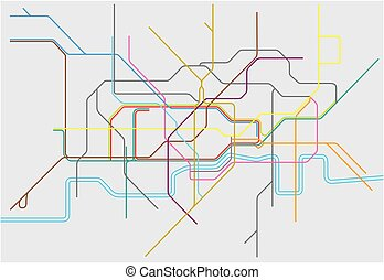 Map of London Undergound,Overground,DLR, and Crossrail -...