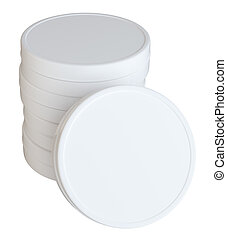 Clean Closed Cream Can With Empty Space - Product Packing....