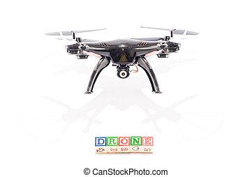 Modern Technology Copter closeup Aircraft Drone - Technology...