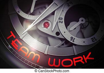 Team Work on Fashion Wrist Watch Mechanism. 3D. - Team Work...