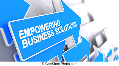 Empowering Business Solutions - Inscription on the Blue...
