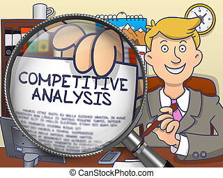 Competitive Analysis through Lens. Doodle Style. -...