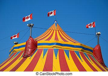 Circo, grande, topo, -, horizontais