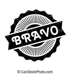 Bravo rubber stamp. Grunge design with dust scratches....
