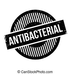 Antibacterial rubber stamp. Grunge design with dust...