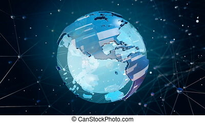 High Tech Earth - Abstract High Tech Spinning Earth...