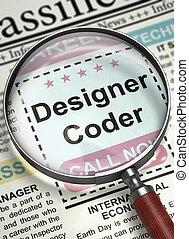 We're Hiring Designer Coder. 3D.