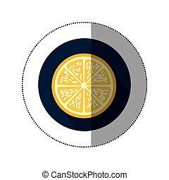 orange fruit icon image, vector illustration design