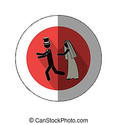 symbol married couple icon image, vector illustration