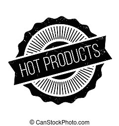 Hot Products rubber stamp. Grunge design with dust...