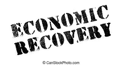 Economic Recovery rubber stamp. Grunge design with dust...