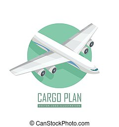 Airplane Vector Icon in Isometric Projection
