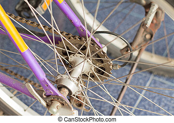 The mountain bike gears cassette - Bike gears cassette on...