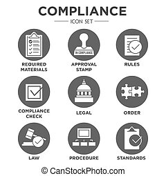 In Compliance 2 SOLID - In Compliance Icon Set - Outline...