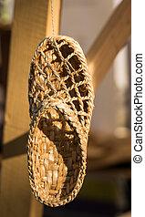 Raffia Shoe - Traditional romanian countryside shoe made...