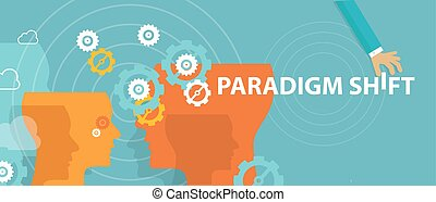 paradigm shift new concept changing rethink idea perception...