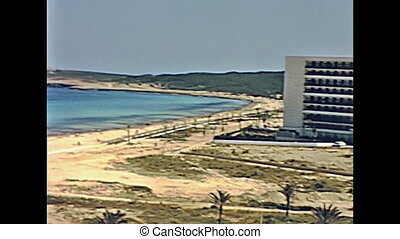 Cala Millor Playa - Aerial view panorama on the beach of...