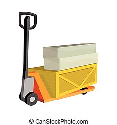 Transportation Oversized and Heavy Goods - Hydraulic trolley...
