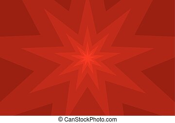 nine pointed star red abstract vector background