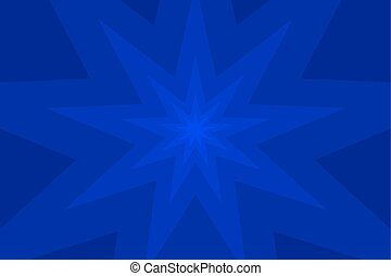 nine pointed star blue abstract vector background